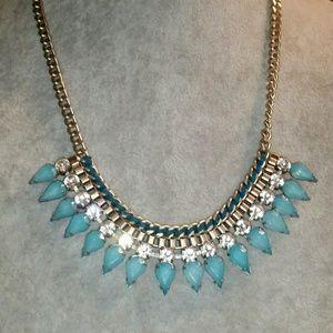 Lane Bryant 'Blue' Necklace w/Rhinestones